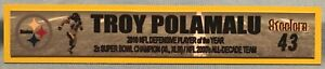TROY POLAMALU  PITTSBURGH STEELERS  FULL COLOR NAME PLATE