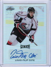 16/17 LEAF METAL LOUIS-FILIP COTE BA-LC1 BASE AUTOGRAPH AUTO QUEBEC REMPARTS