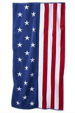 Us American Flag Pool Beach Towel Velour/Terry 34x64 Stars/Stripes Nwt $30