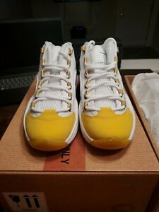 Reebok Question (GS) Yellow Toe Size 5.5Y Lakers FX4286 SPECIAL BOX SP