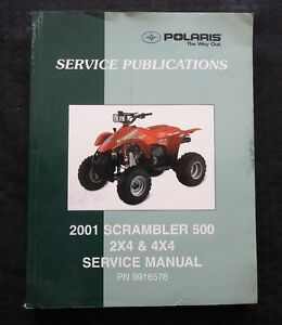2001 POLARIS 500 SCRAMBLER 2x4 4x4 ALL TERRAIN VEHICLE ATV SERVICE REPAIR MANUAL