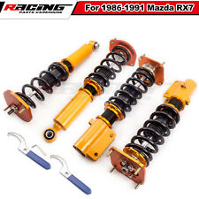 Coilover Spring Struts For Mazda Savanna RX7 RX-7 Adj Height &Camber Plates