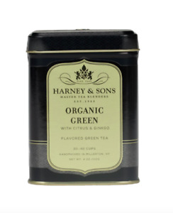 Harney and Sons Organic Green with Citrus and Ginkgo 4 Ounce Tin