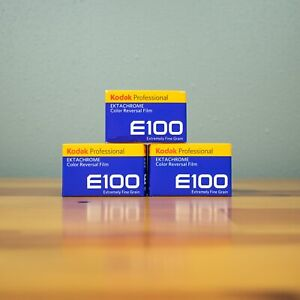3 Rolls of Kodak Pro Ektachrome E100 36 Exposure 35mm Slide Film