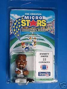 MICRO STARS EMMITT SMITH  NFL DALLAS COWBOYS  FIGURE