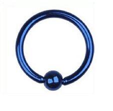 piercing micro anelli blu scuro 1.2x8x3 acciaio 316 L per Arcade naso capezzolo