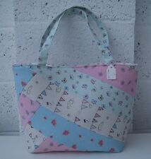 STUNNING QUILTED SHOULDER BAG * 100% Cotton Fabric * HANDMADE * Fully Lined *