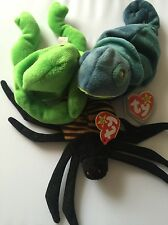 Ty Beanie Babies Lot Of 3 Rainbow 1997 , Legs 1993 And Stripes 1995 C