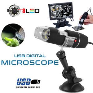 Microscopio Portatile Digitale 1000X Endoscopio Con Cavo Usb Camera 8 Led Pc