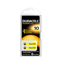 ★12 BATTERIE DURACELL EASY TAB 10 PR70 1.45 V SPECIALISTICHE GIALLE DA10N6★