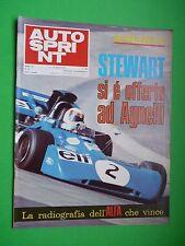 AUTOSPRINT 1971/32 Jacky Stewart Alfa Romeo 33-3 Ferrari Porsche 917/10 Can Am