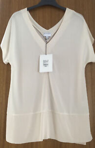 Witchery Size 8/10 Cream Vneck/back Tank Rrp. $69.95 Sell $30