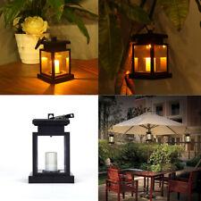 Solar Power LED Candle Lantern Waterproof Garden Hanging Light Outdoor Yard Lamp