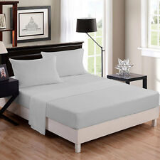 FULL SIZE USA BEDDING COLLECTION SOLID 1000-TC EGYPTIAN COTTON ALL COLORS & ITEM