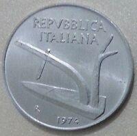MONETE REPUBBLICA ITALIANA  10 LIRE SPIGA 1974 - FDC DA ROTOLINO