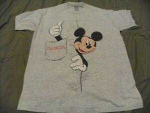 Vintage 90s Sherrys Best Walt Disney Mickey Mouse Florida Tour Tshirt Large nice
