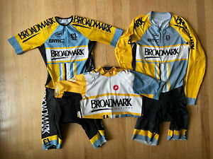 Cycling Skin Suit Lot Of 3 Mens XL Castelli Jersey Pactimo Short Sleeve Long
