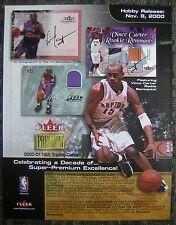 "2000 FLEER PREMIUM NBA Trading Cards Hobby Issue 8x11"" Sell Sheet - Vince Carter"