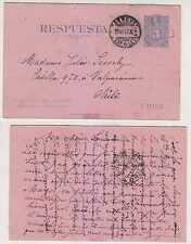 Chile 1897 Ps H&G 14 Double Card Reply Portion Geneva To Valparaiso F,Vf Scarce!