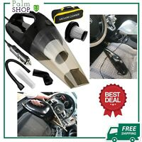 Portable Handheld Car Vacuum Cleaner with Strong Suction 2 Filters & Carry Bag