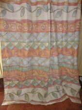TUSCAN SOUTHWESTERN KHAKI BLUE RED GOLD BROWN SHOWER CURTAIN 68 X 70