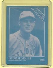 1/1 GEORGE SISLER 1993 CONLON CARD PRINTING PRESS PLATE ST LOUIS BROWNS 1 OF 1
