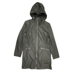 Marc New York Women Jacket Size L Black Hooded Long Sleeve Zip Pockets