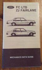 Ford FC LTD & ZJ Fairlane Original Factory Mechanics Data Guide