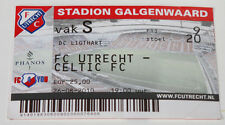 old TICKET EL FC Utrecht Holland Netherlands - Celtic Glasgow Scotland