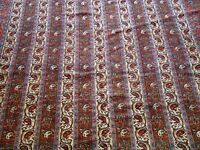 "7' x 10'7"" Superb Hand Knotted Wool Paisley Striped Design Vintage Oriental Rug"