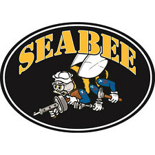 Seabee With Bee Magnet For Car or Home 3-3/4 by 5-1/4 Inches