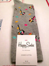 BLACK LABEL HAPPY SOCKS-1 X PAIR FLOWER POWER PIMA SOCKS-NWT