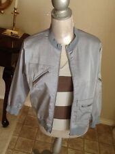 Yansi Fugel 2-piece silk sweater tank with matching  jacket  m