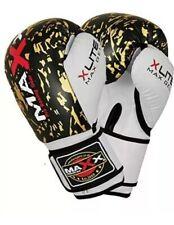 Maxx Boxing gloved Rex leather 10 oz Blk/GoldXlite Max Gel
