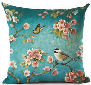 Kissenhülle Kissenbezug Motivkissen Tiere Vogel und Schmetterling