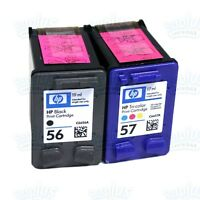Genuine HP 56/57 Black-Color Ink DeskJet 5150 5650 9650 9670 9680 450 5850 5550