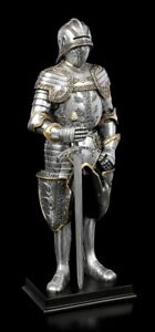 Deutsche Ritter Figur mit Schallerhelm - Veronese Mittelalter Krieger Kämpfer