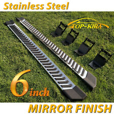"Fit 2015-2020 FORD F150 Super Cab 6"" Nerf Bar Side Running Board Side Step SS V"