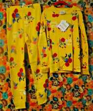 NWT Hanna Andersson Disney Princess Belle Cotton Long John PJ Pajamas 120 US 6-7