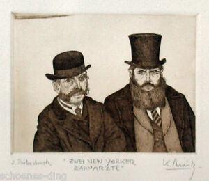 "Moritz, Klaus: ""Zwei New Yorker..."", Original Farbradierung"