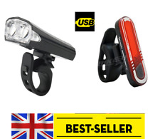 front USB 2 led & rear 7 led rechargeable light set kit lights - flash bike lamp