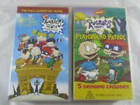 Rugrats 2x VHS In Paris The Movie & Playground Patrol 5 episodes. Pal Rated G