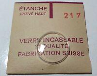 Verre de montre suisse bombé plexi diamètre 217 Watch crystal vintage *NOS*