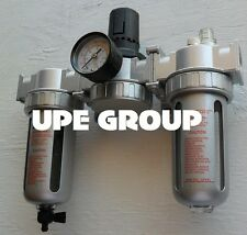 12 Mid Flow Combo Particulate Filter Moisture Trap Lubricator Regulator