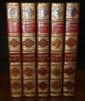 1778 Plutarch's Lives Translated from Greek by Langhorne 5 Vols Only 3rd Edition