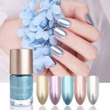 5 Colors 9ml Metallic Nail Polish Mirror Effect Metal Nail Varnish NICOLE DIARY
