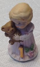 Vintage Enesco Growing Up Birthday Girl Age 1 Figurine 1981 Blonde Pink Dress