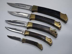 5 Stück PANTHER TASCHENMESSER KLAPPMESSER Junior Bantam 13 - 26 cm Hand Made