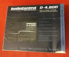 AUDIOCONTROL D-4.800 CAR 4-CHANNEL 800W RMS AMPLIFIER DSP MATRIX PROCESSING NEW