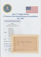J EDGAR HOOVER 1895-1972 DIRECTOR OF THE FBI RARE ORIGINAL AUTOGRAPH BOOK PAGE